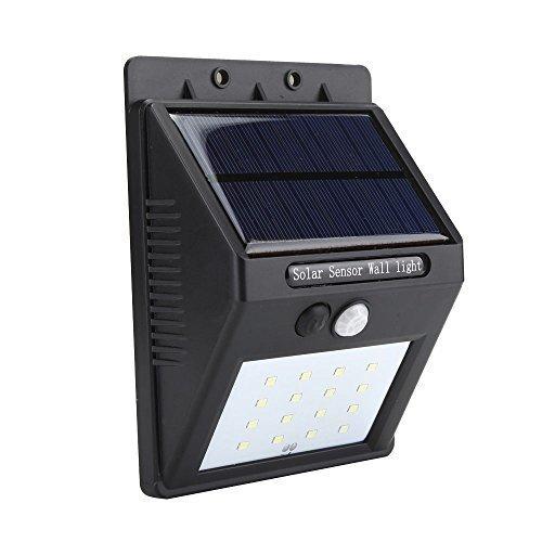 Latest Version Solar-Powered Led Light Motion-Sensor Garden Wall Light 2 modes - EFUN