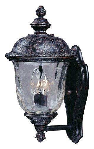 Maxim Lighting 3422wgob Carriage House Dc 2-light Straight Mount Outdoor 16-inch Wall Lantern Oriental Bronze