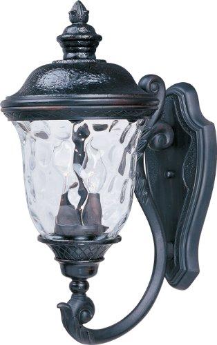 Maxim Lighting 3423wgob Carriage House Dc 2-light Outdoor Wall Lantern Bottom Mount Oriental Bronze Finish