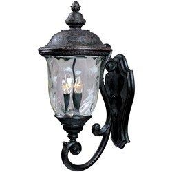 Maxim Lighting 3424wgob Carriage House Dc 3-light Bottom Mount Outdoor 265-inch Wall Lantern Oriental Bronze