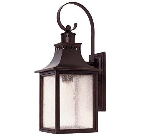 Savoy House Lighting 5-258-13 Monte Grande Collection 1-light Outdoor Wall Mount 1775-inch Lantern English Bronze