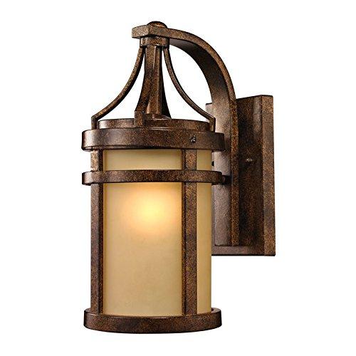 Elk Lighting 450961 Winona Collection 1 Light Outdoor Sconce Hazelnut Bronze