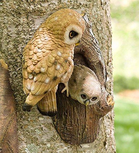 Bird Tree Hanger Garden Accent In Owl