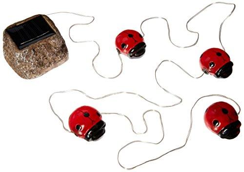 e-joy Solar Powered LED Ladybug Garden AccentOutdoor String Lights Outdoor Lights Great Gift Red Set of 4