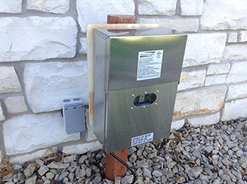 600 Watt Wess Stainless Steel Low Voltage Transformer Landscape Garden Lighting By Pinnacle