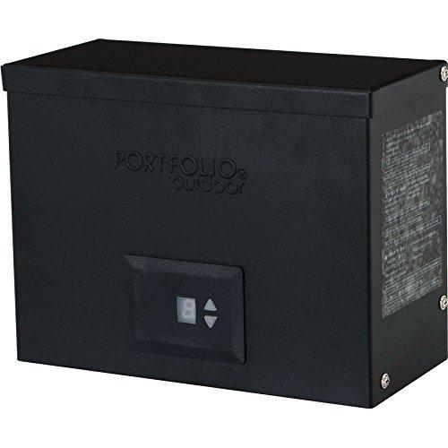 Portfolio 300-Watt 12-Volt Multi-Tap Landscape Lighting Transformer with Digital Timer and Dusk-to-Dawn Sensor