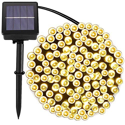 72foot 200 Led Solar String Lights Outdoorgarden Lighting 8 Mode steady Flash Waterproof Fairy Lamp Decoration