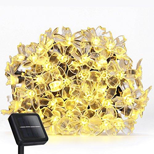 Solar Led String Lights Addlon Garden Decorative Lighting23ft7m 50 Led 8work Modesblossom Ambiance Lighting