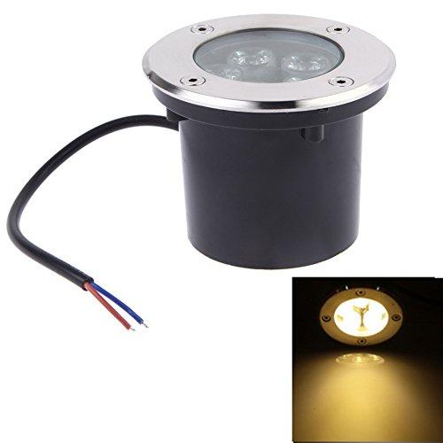 Awakingdemi 12V 5W LED Underground Outdoor Spot Light Landscape Spot Light for Garden PathwayWarm White