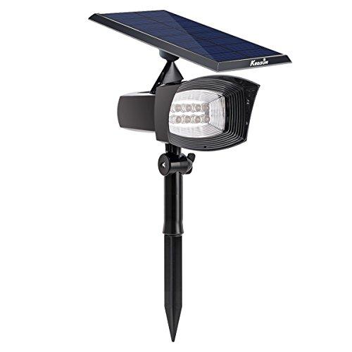 Kedsum Solar Lights2-in-1 8 Led 300 Lumens Solar Spotlight Weather-resistant Wall Light Landscape Light For Driveway