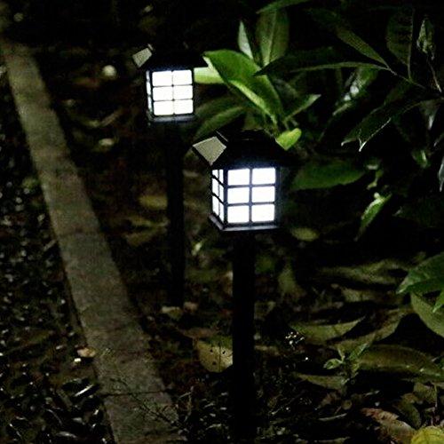 2 PCS Small Room Path Lamp Solar Garden Light Outdoor Solar Path Lights by YIGER Waterproof Pathway Light Automatic Sensing LED Walkway Lamp for GardenYardPatioPathwayDriverway