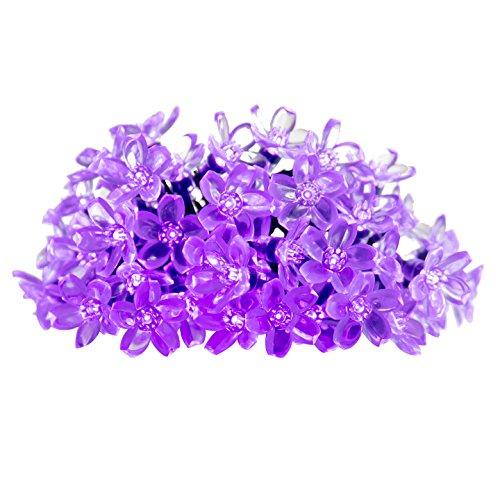 Innoo Tech Solar Outdoor String Lights 21ft 50 Led Purple Blossom Christmas Lights For Bedroomgardenwalkway