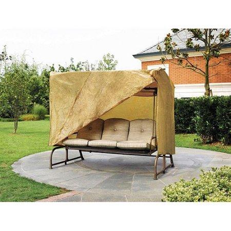 Outdoor Patio Swing Cover 1 Tan