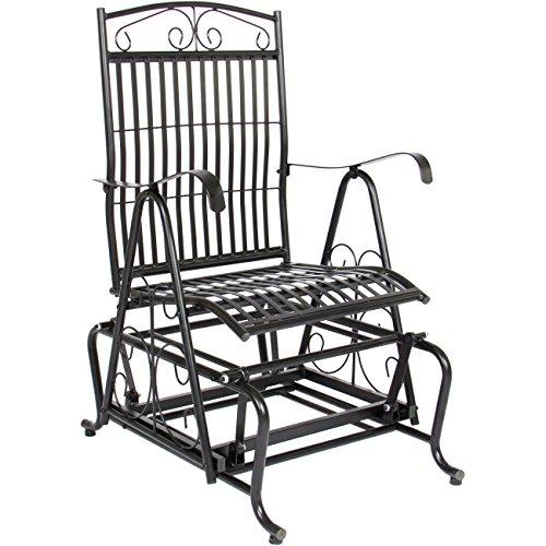 Best Choice Products Patio Iron Rocker Glider Porch Chair