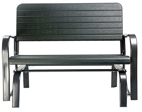 Merax 48quot Patio Garden Bench Park Yard Lovechair All Weather Outdoor Furniture Glider Bench Love Seat Lounge