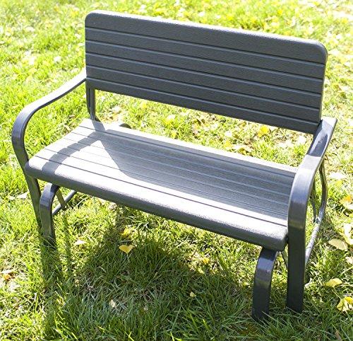 Merax 48inch Patio Garden Bench Park Yard Outdoor Furniture Glider Bench Green