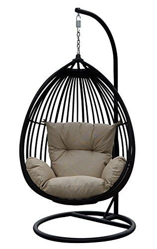 Darlee Tear Drop Shaped Swing Chair with Cushion