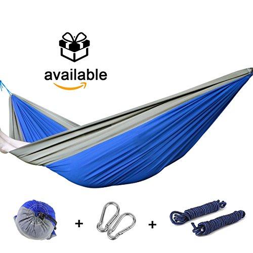 Premium Quality Double Hammock - Ultra Durable Hammock For 2 Persons - Portableamp Comfortable Nylon Fabric Hammock