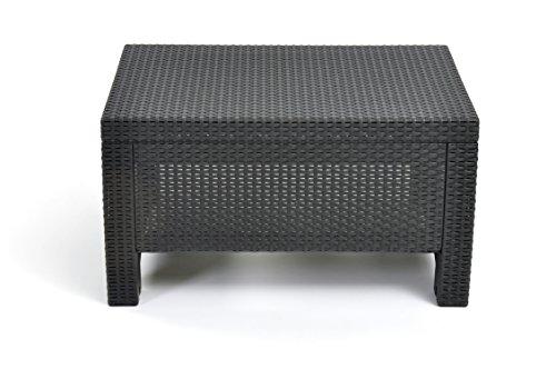 Keter Corfu Coffee Table New All Weather Outdoor Patio Garden Backyard Furniture Charcoal
