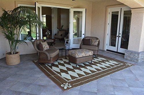 Patio Furniture Rug Regal Diamond Backyard Patio Mat Outdoor Reversible Rug 9 X 12
