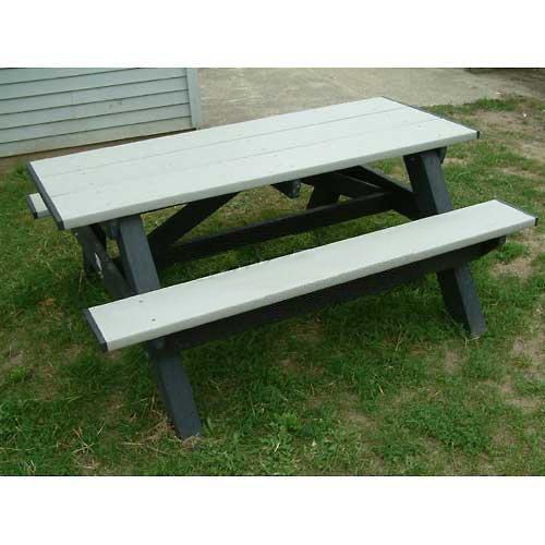 Standard 6 Picnic Table Cedar Top BenchGreen Frame