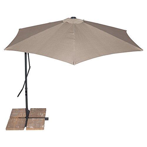 California Sun Shade Cantilever Umbrella Round 10 Tan