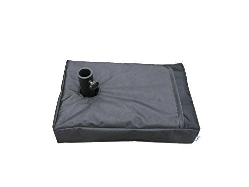 Do4U 224 x 145 Rectangle Sunshade Umbrella Parasol Base Sand Weight Bag Up to 110 lbs1680 D thick oxford fabricblack