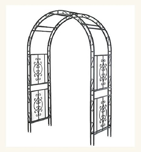 Garden Arbor Archway DARK Bronze Finish Iron Patio Arbor Elegant Stylish Perfect for Weddings Lawns Yards and Patios NO RISK 100 MONEY BACK GUARANTEE