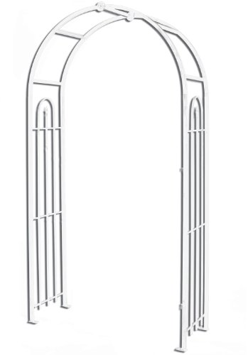 Panacea Products Arched Top Garden Arbor White