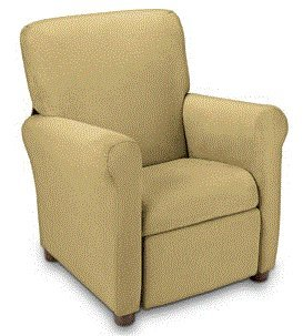 Urban Juvenile Microfiber Recliner Brownstone - Soft Comfortable Chair Seat Lounging For Kids - Strong Wood And