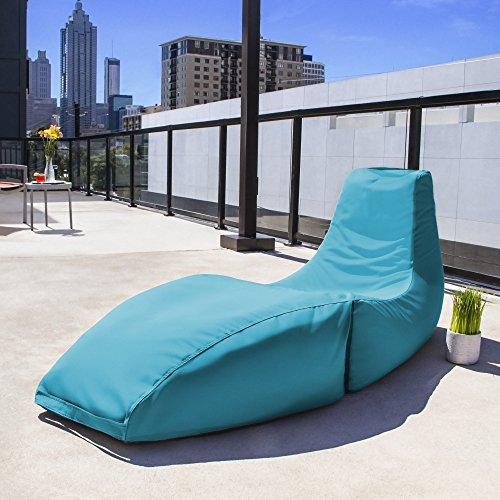 Jaxx Outdoor Prado Bean Bag Lounge Chair, Solid, Lagoon Blue