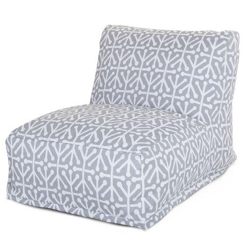 Majestic Home Goods Aruba Bean Bag Chair Lounger Gray