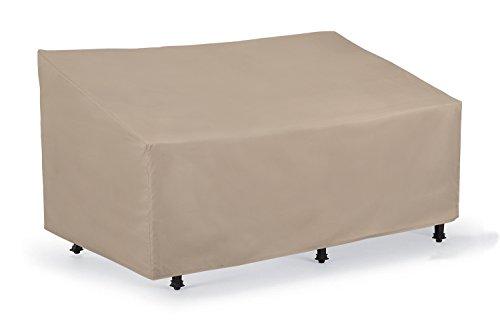 SunPatio Outdoor Patio Veranda Sofa  Loveseat CoverLight WeightWater Resistant Eco-FriendlyHelpful Air Vents60L x 36W x 30H