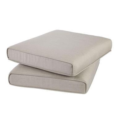 Hampton Bay Broadview Sunbrella Spectrum Dove Replacement Outdoor Ottoman Cushion