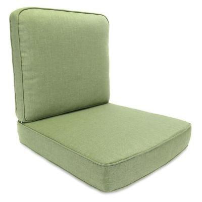 Hampton Bay Fall River Moss Replacement Outdoor Motion Lounge Chair Cushion