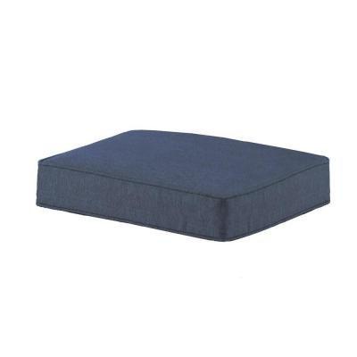 Hampton Bay Spring Haven Blue Ottoman Cushion