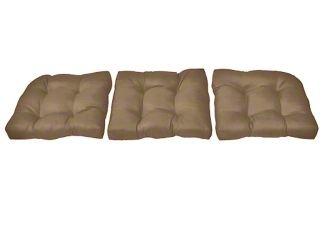 60&quot X 19&quot X 4&quot Sunbrella Tufted Sofa Cushion Set sunbrella Cocoa
