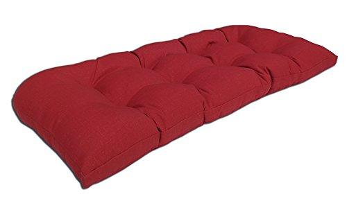 Bossima IndoorOutdoor Rust Red Bench Loveseat CushionSpringSummer Seasonal Replacement Cushions