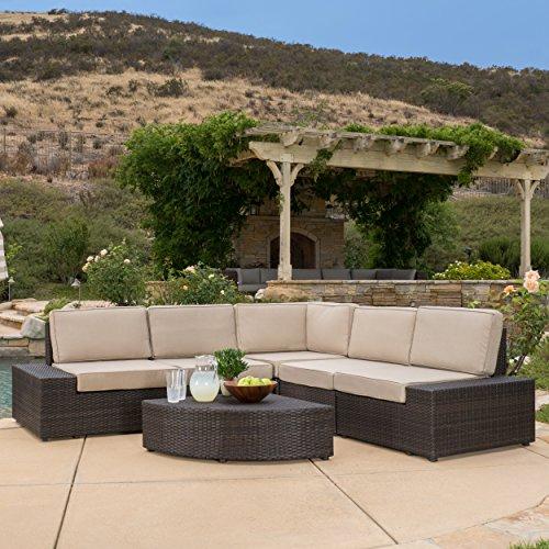 Reddington Outdoor Patio Furniture 6-Piece Sectional Sofa Set with Cushions
