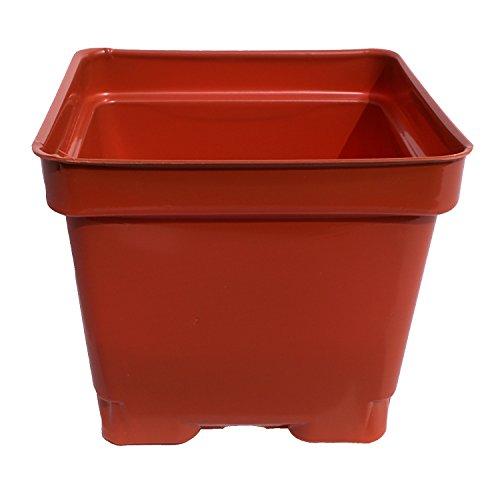 4 12 Inch Press Fit Plastic Flower Pots - Garden Greenhouse Or Nursery terracotta Pack Of 45 - Recyclableamp