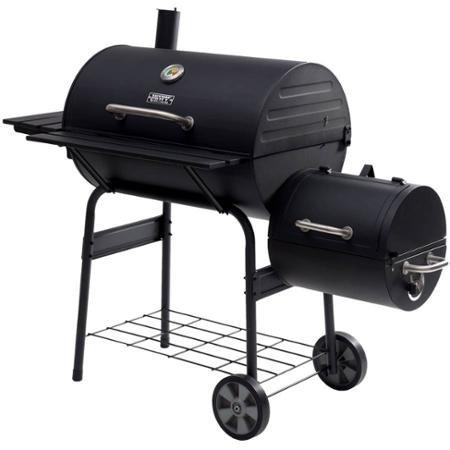 Backyard Grill 30 Offset Durable Outdoor Smoker with Bottom Storage Shelf