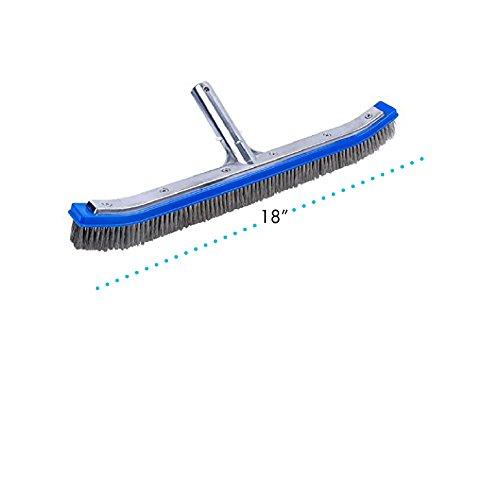 Milliard 18 Extra-Wide Heavy Duty Wire Pool Algae Brush Designed for Concrete and Gunite Pools