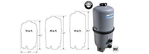 Waterway Plastics 570-0036-07 Filter De 36 Sqft Crystal Water