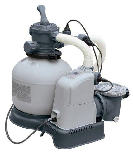 Intex 1600 Gph Saltwater Systemamp Sand Filter Pump Swimming Pool Set  56677eg