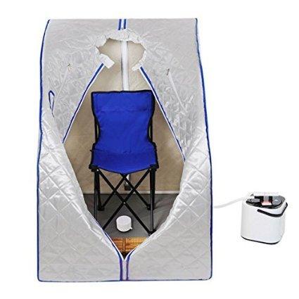 2l Portable Steam Sauna Tent Spa Detox-weight Loss W Chair Silver