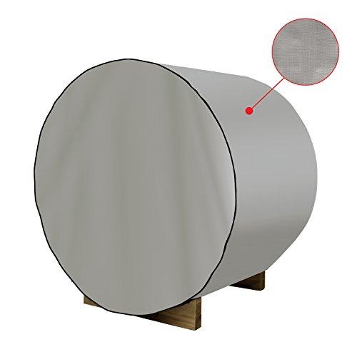 ALEKO SB6DC Dust Coat For 83x72x75 Inch SB6PINE Barrel Sauna All Weather Polyethylene Protecting Cover