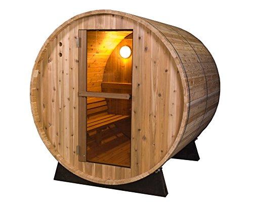 Almost Heaven Saunas 4-person Pinnacle Barrel Sauna rustic Cedar