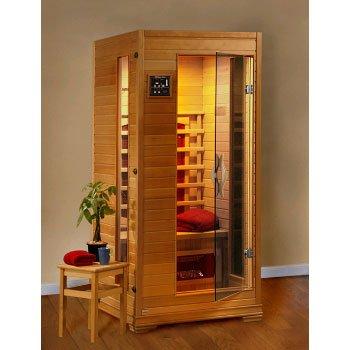 Heatwave Buena Vista Sa2400 1 Person Infrared Sauna With 3 Ceramic Heaters Ergonomic Back Rests Ez Touch Control