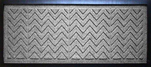Aqua Shield Chevron Boot Tray Mat 15 x 36 Medium Grey