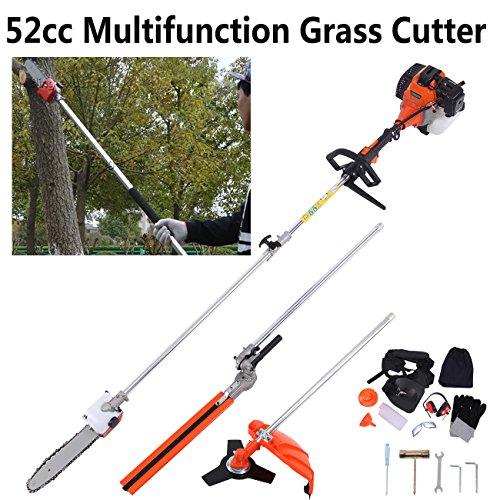 Ridgeyard 52cc 2-Stroke 5 in 1 Long Reach Pole Chainsaw Portable Hedge Trimmer Brush Tree Cutter Pruner Pole Saw